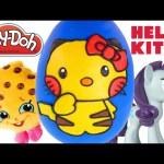 Giant Hello Kitty Pokemon Pikachu Play Doh Surprise Egg – My Little Pony Shopkins Huevos Sorpresa