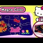 Hello Kitty Magna Color Art Design Board 3D Glasses – 4 Magic Pens Sanrio Magnetic HelloKitty