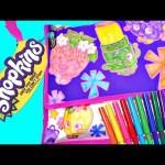 Shopkins Messenger Bag – Custom Shopkins Coloring Handbag – Apple Blossom Strawberry Kiss