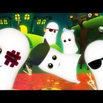 Five Naughty Ghosts | Scary Nursery Rhymes For Kids | Kids TV 3D Rhymes