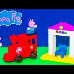 PEPPA PIG Nickelodeon Peppa Pig train Station Construction Set a Peppa Pig Video Toy Unboxing