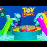 TOY STORY Disney Pixar Toy Story Claw Game Blaze + Paw Patrol Challenge Game Toys Video