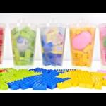 5 Lego Cups Toys *** Surprise Eggs YO-KAI WATCH SPONGEBOB INSIDE OUT MINIONS