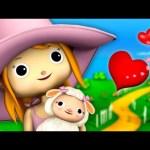 Mary Had A Little Lamb Nursery Rhyme with lyrics | By LittleBabyBum!