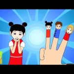 Finger Family (Chinese Family) Nursery Rhymes | Cartoon Animation Songs For Children