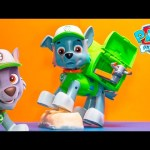 PAW PATROL Nickelodeon Paw Patrol Jumbo Rocky a Paw Patrol Video Toy Unboxing