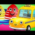 Surprise Eggs Toys – Public Transport Vehicles for Kids Part 2 | Rickshaw, Tuk Tuk & more | ChuChuTV
