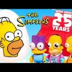 Simpsons 25 Years by Kidrobot Full Case of Blind Box Toys Unboxing – Giant Play Doh Homer Egg