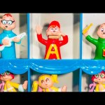 ALVIN AND THE CHIPMUNKS Nickelodeon Alvin Simon Theodore Chipmunks Road Show Trunk Toys Video