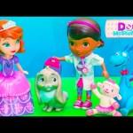 DOC MCSTUFFINS Disney Doc McStuffins + Princess Sofia the First Clover Video Toy Parody