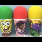Play Doh Surprise Cups Disney Princess Kinder Teenage Mutant Ninja Turtles Star Wars Toys for Kids