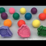 Play and Learn Colours with Glitter Playdough Balls with Strawberry and Ice Cream Molds Fun for Kids