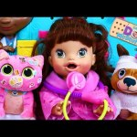 Baby Alive Doll Lucy is a DOCTOR! Doc McStuffins Pet Vet Checkup Center + Crazy Doll DisneyCarToys