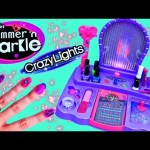 Shimmer N Sparkle NAIL SALON Girls Real 8 in 1 Nail Design Studio & Crazy Lights Toy DisneyCarToys