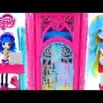 New Equestria Girls Canterlot High School My Little Pony Playhouse – – – Doll House Toy Unboxing