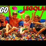 Indoor Legoland FAMILY VACATION With Twin Sister & Kids Rides & Laser GAME Challenge DisneyCarToys