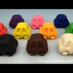 Play and Learn Colours with Playdough Cars with Molds Fun for Children