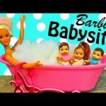 Baby Babysits Twins! Project MC2 Dolls + Disney Frozen Hans Funny Bath Doll Parody by DisneyCarToys