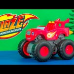BLAZE AND THE MONSTER MACHINES Nickelodeon Blaze Super Stunt Blaze a Blaze Video Toy Review
