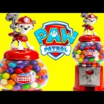 Paw Patrol Marshall Gumball Candy Dispenser LEARN Colors with Gumballs