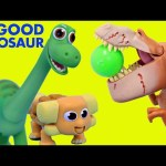 THE GOOD DINOSAUR Giant Surprise Eggs Opening With Arlo, Spot, Butch & Disney Pixar Toys