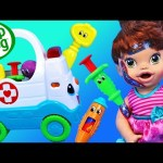 Baby Alive GETS HURT Needs Leap Frog Ambulance, Blood, Band-Aids for Boo Boos by DisneyCarToys