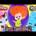 JUMBO Dennis Hotel Transylvania 2 Movie Play Doh Halloween Surprise Egg Toys Shopkins