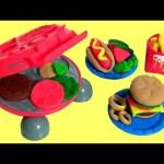 Play Doh BBQ Burger Barbecue ~ McDonalds Happy Meal Fries Hamburgers Hot Dog Onion Rings Churrasco