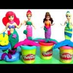 NEW Play Doh Ariel And Undersea Friends Mermaids Elsa Anna Belle Disney Frozen Play Dough