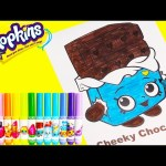 Shopkins Cheeky Chocolate Crayola Coloring with Num Noms and Surprises