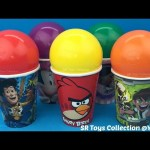 Balls Surprise Cups Angry Birds Toy Story Ben 10 with Toys Iron Man The Good Dinosaur Justice League