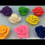 Play Doh Roses with Butterfly and Bird Molds Fun Creative for Kids