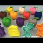 Play Dough Apples with Beach Theme Molds Fun & Creative for Children