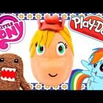 Playdoh Cowboy Applejack BIG Surprise Egg My Little Pony Playdough Domo-Kun Toys by DCTC