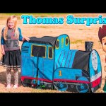 THOMAS the TRAIN Surprise Tent Worlds Largest Thomas + Paw Patrol + Blaze Surprise Tent Toys Video