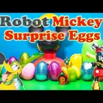 MICKEY MOUSE CLUBHOUSE Disney Surprise Eggs Paw Patrol +  Mickey Mouse Robot Surprise Egg Video
