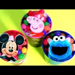 Jelly Beans DISNEY TOYS SURPRISE Mickey Cookie Monster Disney Princess Peppa Pig Kids Girls Toys