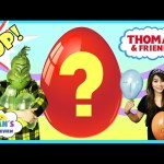 BALLOON POP CHALLENGE Number Game Thomas & Friends Blind Bag Toy Egg Surprise Princess T vs Grinch