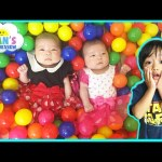 BALL PIT Newborn Babies Twin Girls First Baby Ball Pit for Kids Surprise Toys Challenge Disney Toys