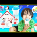 Snoopy Snow Cone Maker Machine from The Peanuts Movie Toy for Kids Ryan ToysReview