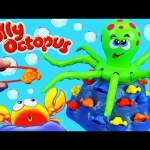 Jolly Octopus Board Game Challenge Toy Review with Fish Bowl of Bubble Guppies, Mickey Mouse Toys