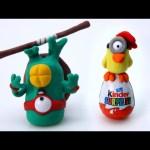 Play Doh Teenage Mutant Ninja Turtles Stop Motion Kinder Surprise Egg! Playdough Animación de TMNT