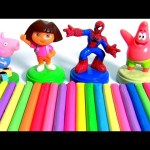 Learn Colors with Play Doh Surprises + Stacking Cups Nesting Toys Surprise Toys for Children 。◕‿◕。