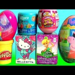 TOYS SURPRISE Glitzi Globes Disney Princess Peppa Pig Hello Kitty Play Doh Egg Surprise Hadas Elsa