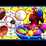 HUGE BALL PIT Kiddie Pool Surprise Eggs Hunt Toys for Kids Spiderman KINDER CHOCOLATE EGG Disney