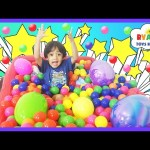 HUGE EGGS SURPRISE TOYS Challenge Easter Eggs Hunt in Giant Ball Pit Disney Cars Toys Spiderman