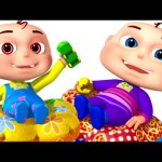 Five Little Babies Playing In Color Tunnel | Zool Babies Fun Songs | Color Learning For Babies