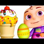 Five Little Babies Opening Surprise Eggs | Ice Cream Candies For Kids | Zool Babies