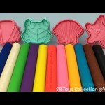 Play Dough Modelling Clay with Sea Themed Cookie Cutters Fun and Creative for Kids