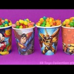 Jelly Beans Mickey Mouse Superman Minions Surprise Cups with Toys Peppa Pig Blind Bag Zootopia Egg